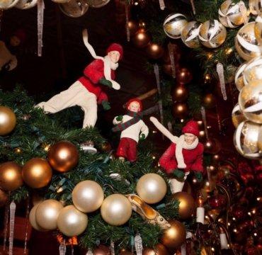 бар, ресторан, отдых, рождество, украшения, атмосфера,